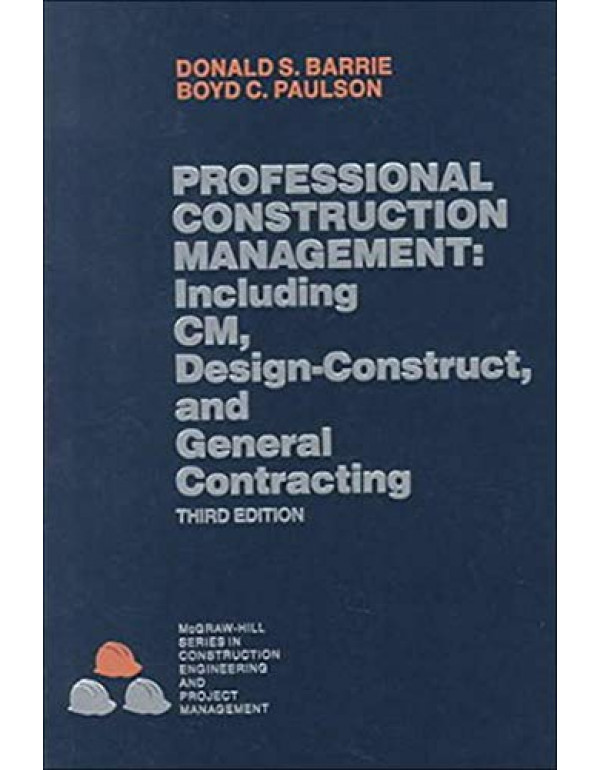 PROFESSIONAL CONSMGMT 3E By Donald S. Barrie (0070038899) (9780070038899)