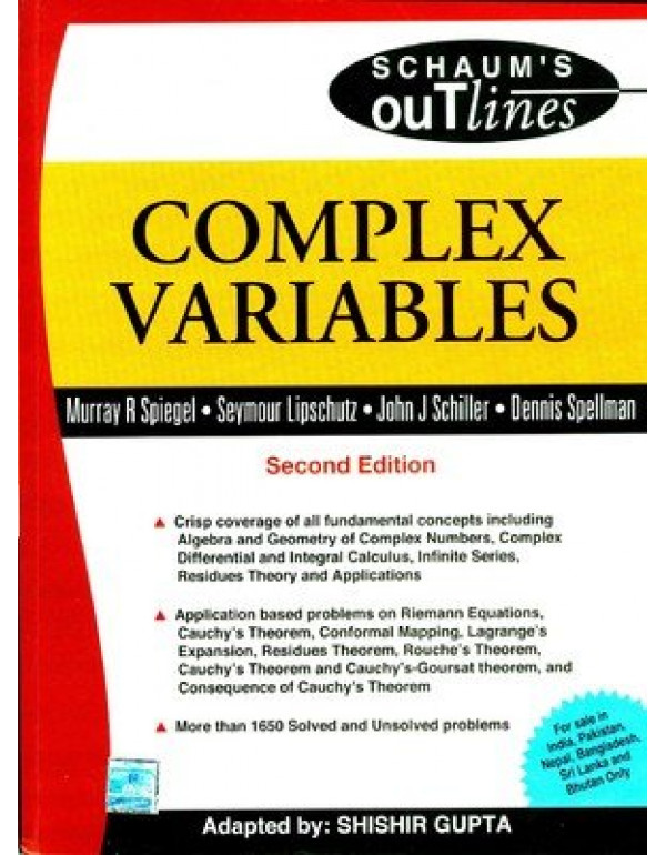 Complex Variable (Schaum's Outlines)  Revised 2nd Edition By Spiegel, Murray