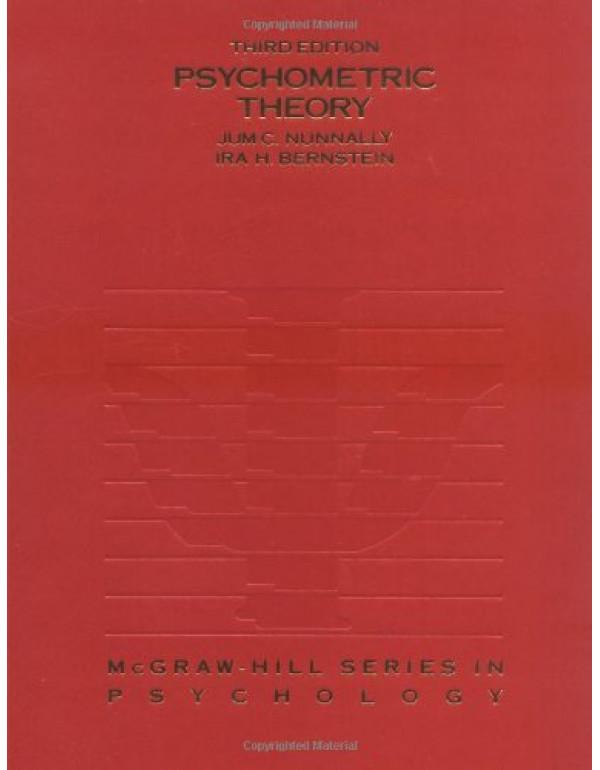 PSYCHOMETRIC THEORY 3E By Jum C. Nunnally (007047849X) (9780070478497)