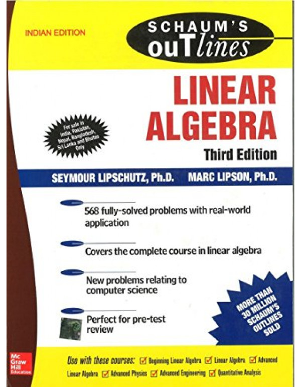 Schaum's Outline of Linear Algebra   3rd Edition By Lipschutz, Seymour