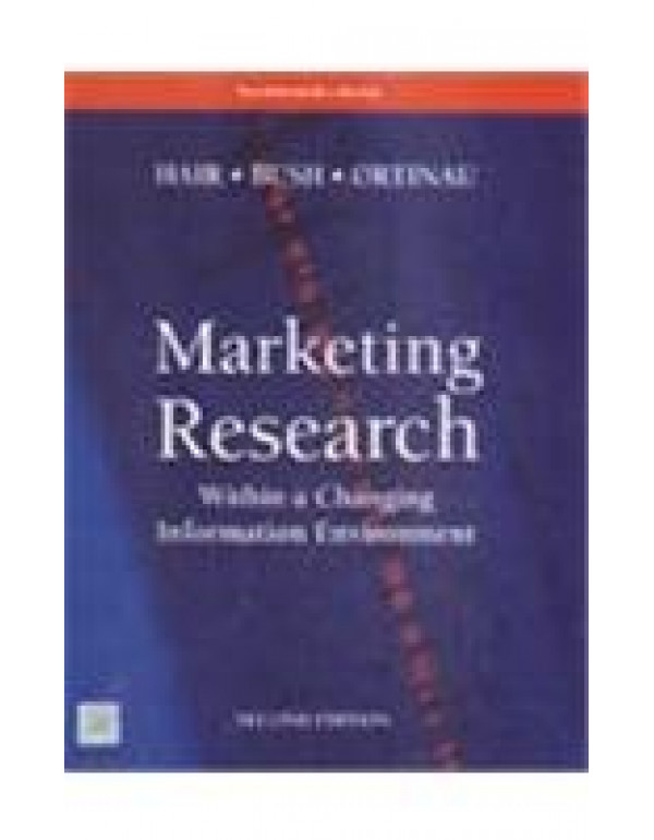 Marketing Research Within a Changing Information Environment  By HAIR (0070634793) (9780070634794)