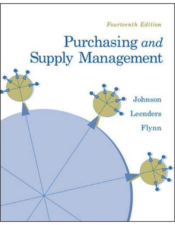 Purchasing And Supply Management 14Th Edition By Johnson, P. Fraser (0073377899) (9780071289375)