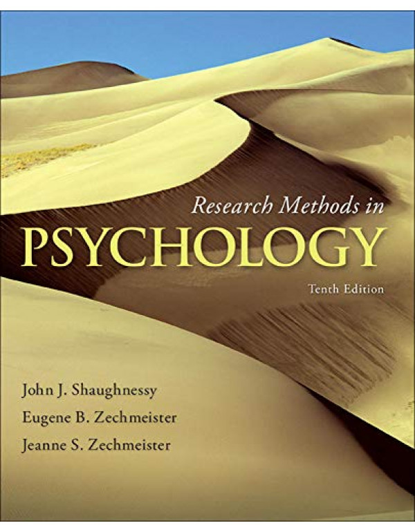 Research Methods in Psychology By Shaughnessy, John (0077825365) (9780077825362)