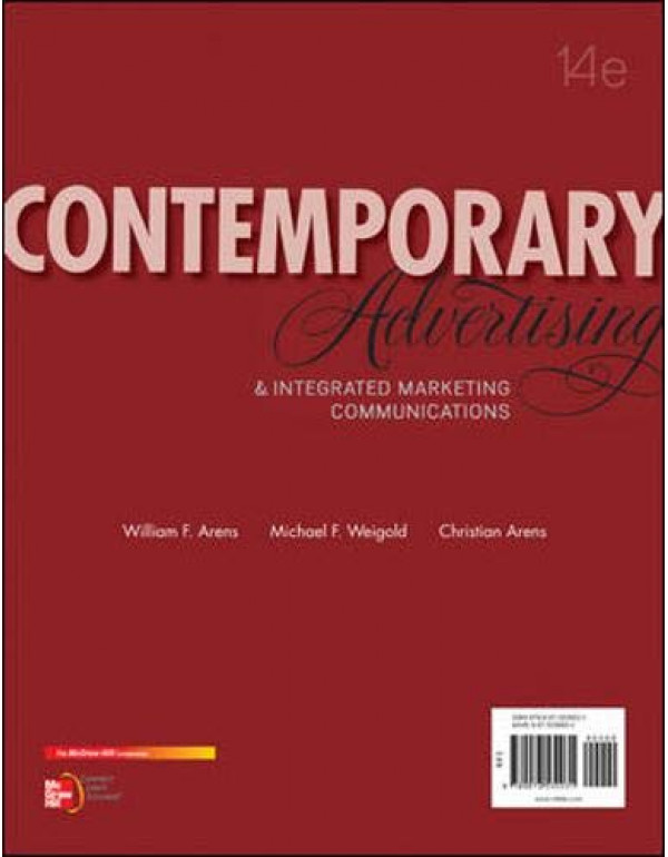 Contemporary Advertising and Integrated Marketing Communications, 14th Edition By Arens, William (0078028957) (9780078028953)