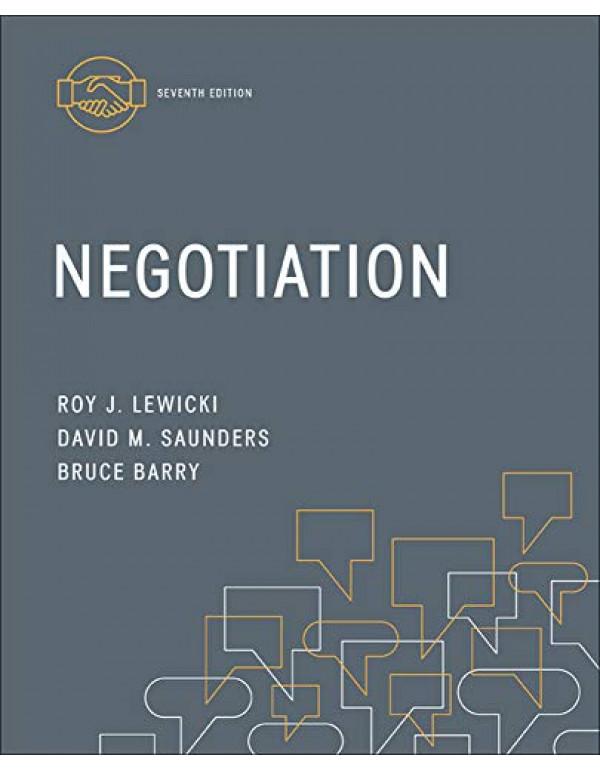 Negotiation By Lewicki, Roy (0078029449) (9780078029448)