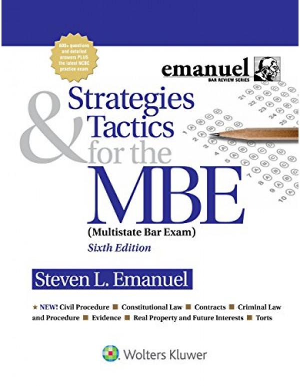 Strategies tactics MBE By Steven L. Emanuel (1454873124) (9781454873129)