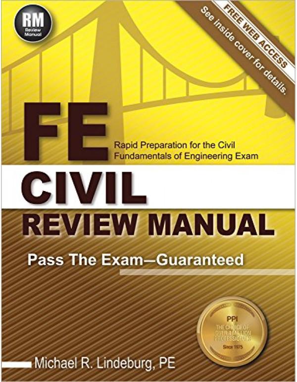 FE Civil Review Manual By Lindeburg PE, Michael  R...