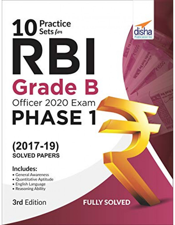 10 Practice Sets for RBI Grade B Officers Exam 2021 Phase 1 - 3rd Edition By Disha Experts
