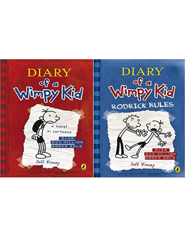 Diary of a Wimpy Kid book 1 and 2 By Jeff Kinney