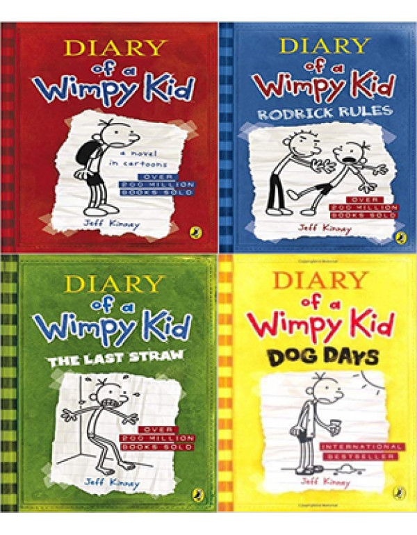 Diary of a Wimpy Kid book 4 Book Set By Jeff Kinne...