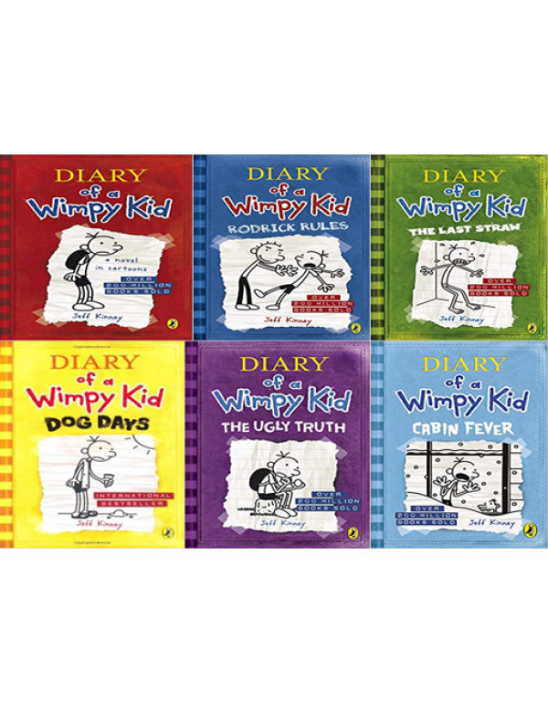 Diary of a Wimpy Kid book 6 Book Set By Jeff Kinne...