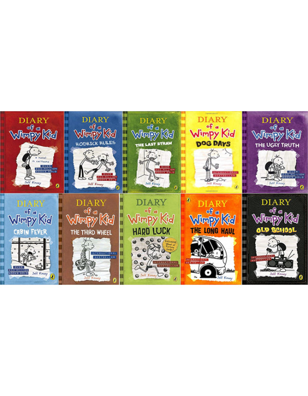 Diary of a Wimpy Kid book 10 Book Set By Jeff Kinn...