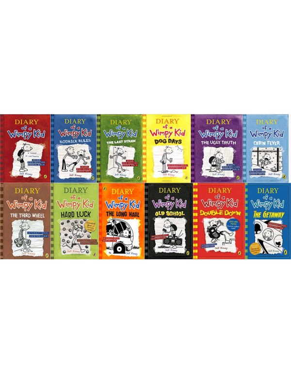 Diary of a Wimpy Kid book 12 Book Set By Jeff Kinn...