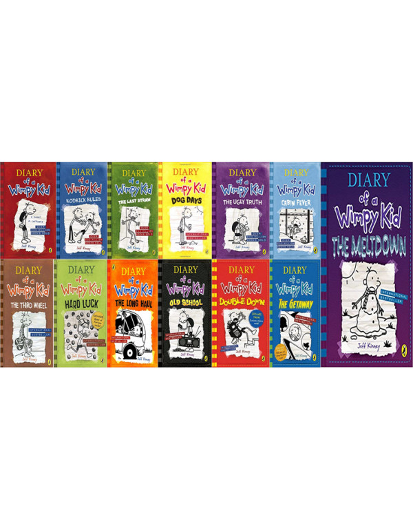Diary of a Wimpy Kid book 13 Book Set By Jeff Kinn...