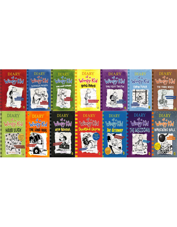 Diary of a Wimpy Kid book 14 Book Set By Jeff Kinn...