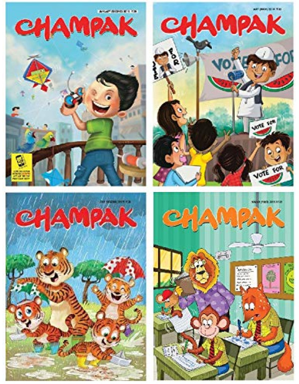 (English) Set of 5 Champak Magazines in English By Champak English