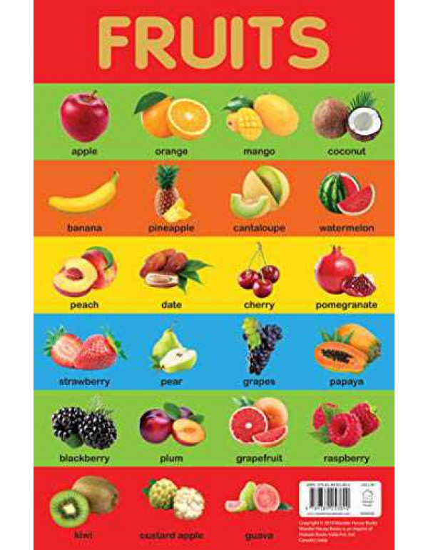 Fruits Chart - Early Learning Educational Chart Fo...