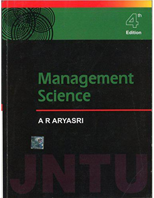 Management Science By Aryasri, A