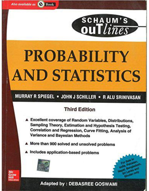Probability and Statistics (Schaum's Outline Series) By Spiegel, Murray