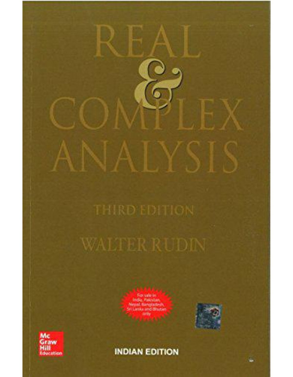 Real and Complex Analysis | 3rd Edition By Rudin, Walter
