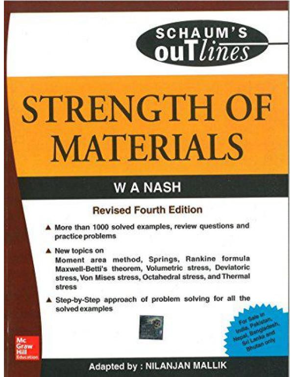 Strength of Materials (Schaum's Outline Series) By Malik, Nilanjan