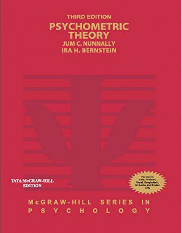 Psychometric Theory By Nunnally, Jum
