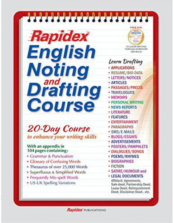 : Rapidex English Noting & Drafting Course By PUSTAK MAHAL EDITORIAL BOARD