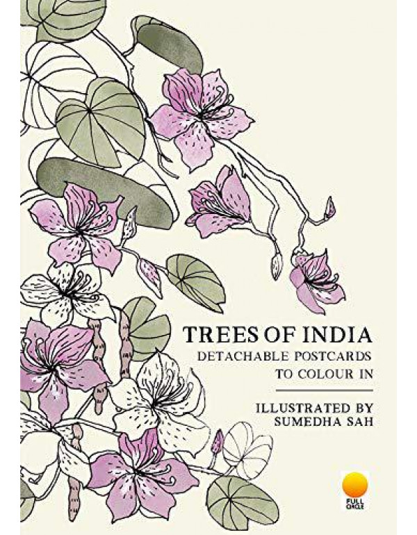 Trees of India: Detachable Postcards to Colour in By Sumedha Shah