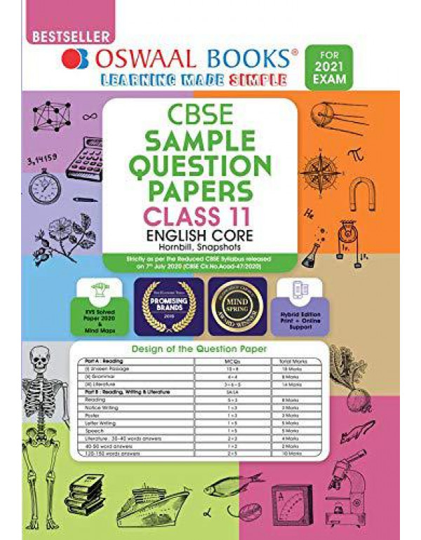 Oswaal CBSE Sample Question Paper Class 11 English Core Book (Reduced Syllabus for 2021 Exam) By Oswaal Editorial Board