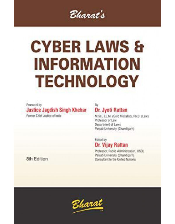 Cyber Laws & Information Technology (For LL.B.) By Dr. Jyoti Rattan