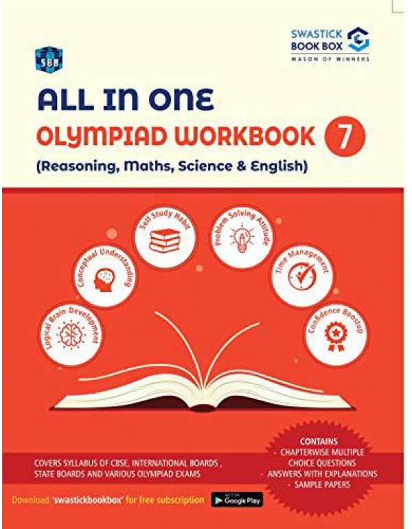 All in One Olympiad Workbook for Reasoning, Maths, Science & English - Class 7 By Preeti Garg