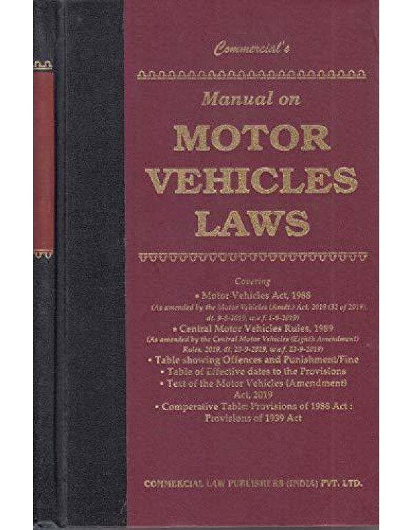 Manual on MOTOR VEHICLES LAWS? By Commercial's