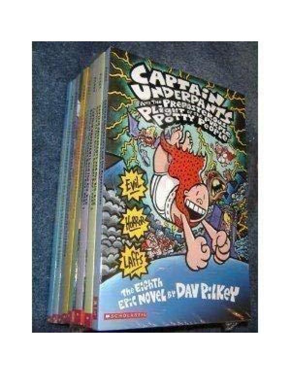 Captain Underpants Box Set (10 Books) By Dav Pilkey