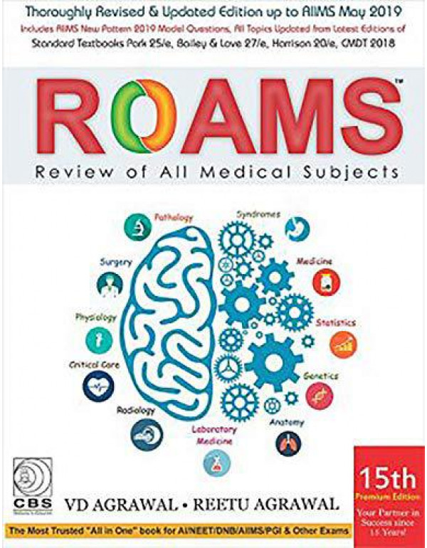ROAMS REVIEW OF ALL MEDICAL SUBJECTS 15ED (PB 2019) By AGRAWAL V.D.