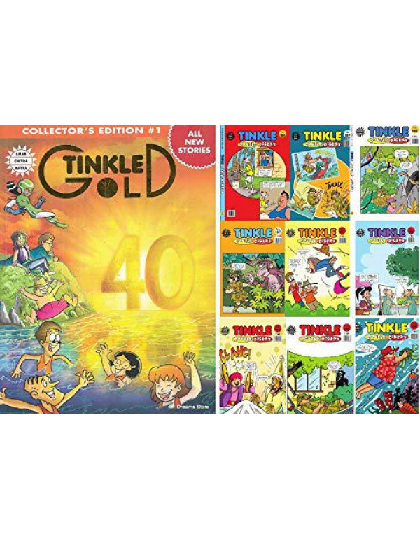 Tinkle Collection Set Double Digest (Set of 9) and Tinkle Gold Collector's Edition #1 (All new Stories) By Tinkle