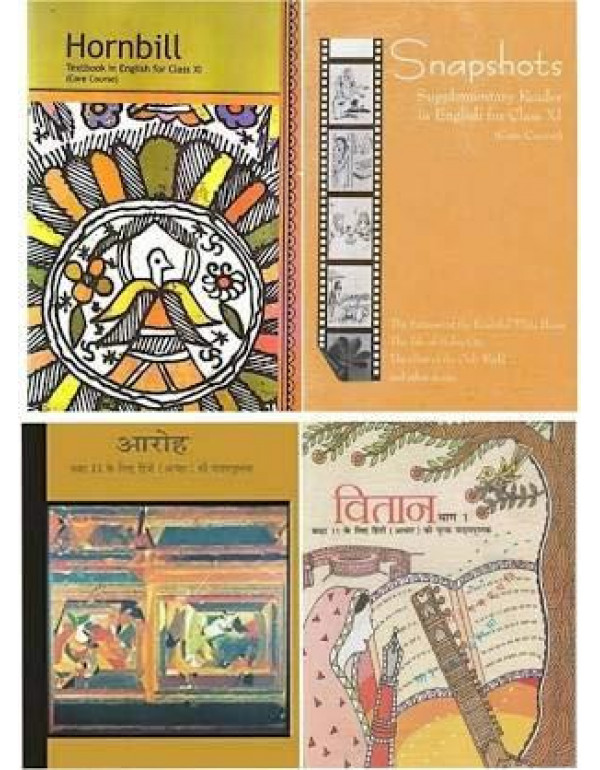 Ncert book class XI(11)ARoh hindi and Vitan hindi part -1,snaphot supplementry and Hornbill english books By Ncert