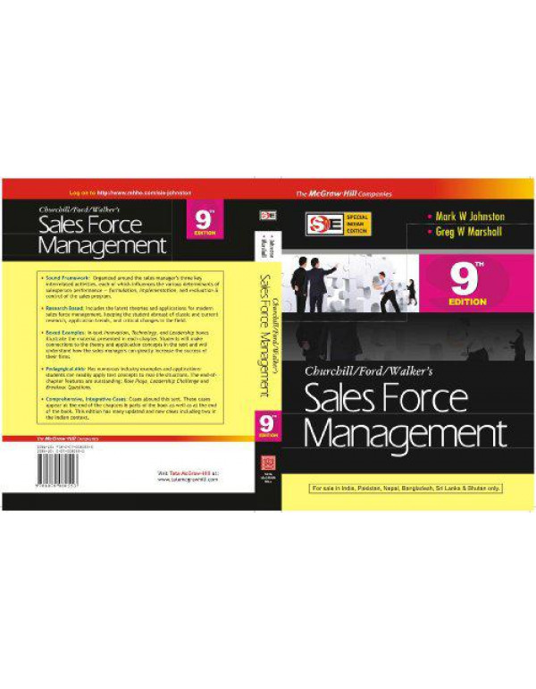 SALES FORCE MANAGEMENT(SIE) By Johnston, M.