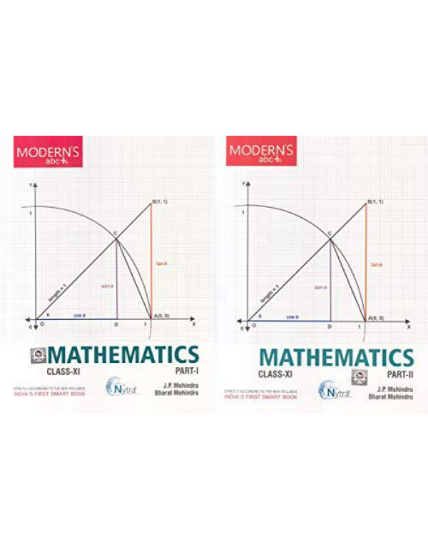 Modern ABC Plus of Mathematics Class-11 Part I & Part II (Set of 2 Books) (2018-19 Session) By J.P. Mohindru