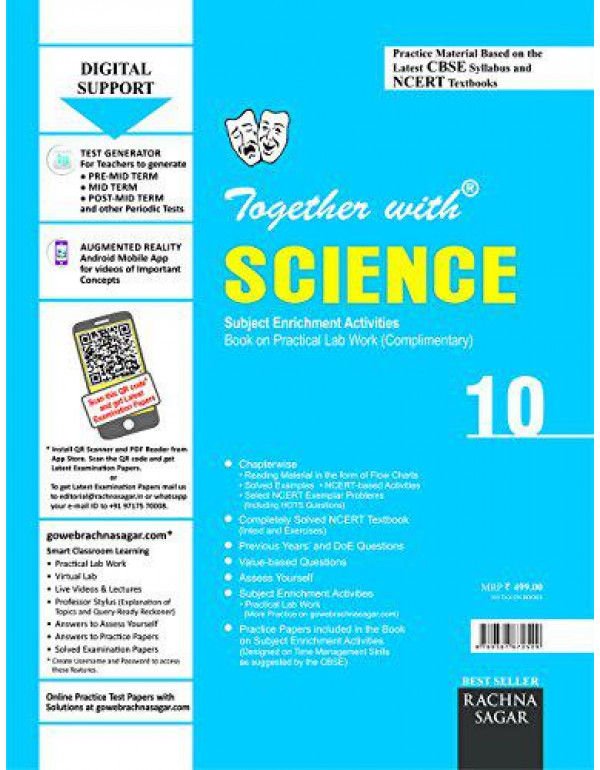 Together with CBSE/NCERT Practice Material Chapterwise for Class 10 Science with Practical Lab Work for 2019 Examination By Bhattacharya , Archita