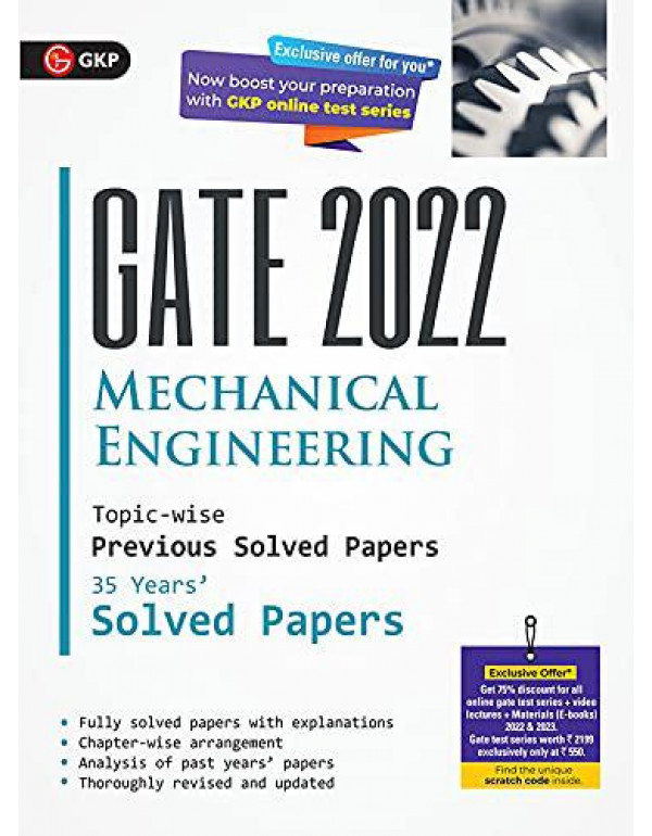 GATE 2022 Mechanical Engineering - 35 Years Topic-wise Previous Solved Papers By G.K. Publications (P) Ltd.