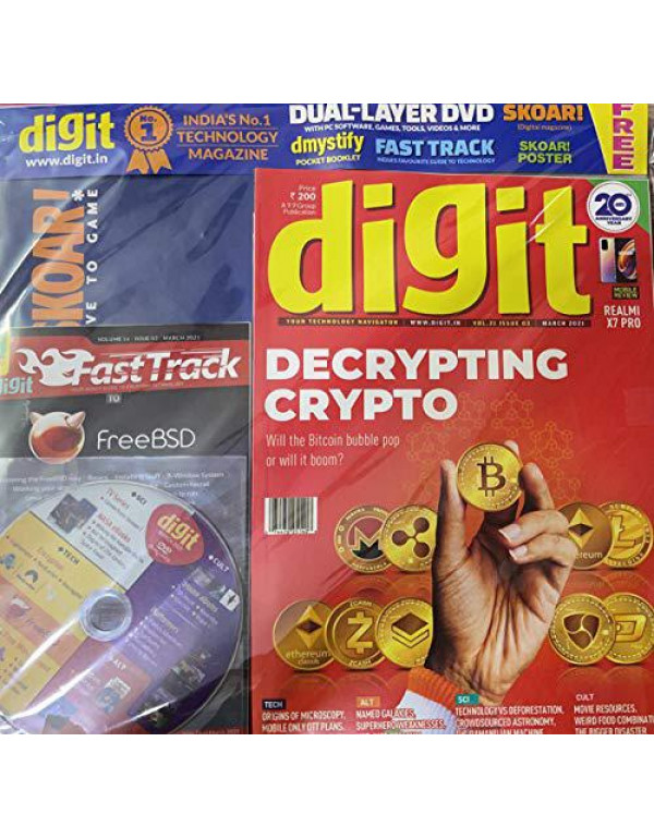 Digit Monthly Technology Magazine March 2021 (Decrypting Crypto) With SKOAR dmystify FAST TRACK and DUAL-LAYED DVD Your Technology Navigator By Digit