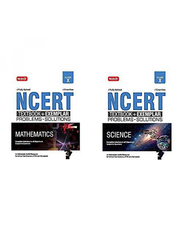 NCERT Exemplar Problems - Solutions + Test Books For Class -10 : Science + Maths Fully Solved & Error Free ( Set Of 2 Books ) By MTG Editorial Board